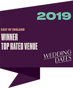 Top Rated Wedding Venues in East of England 2019 Badge